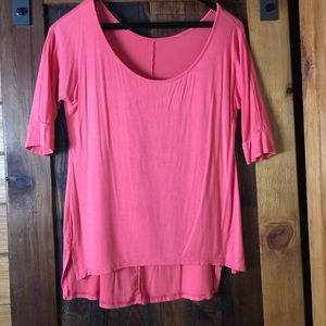Coral 3/4 sleeve Tunic.Super soft and flowy cotton